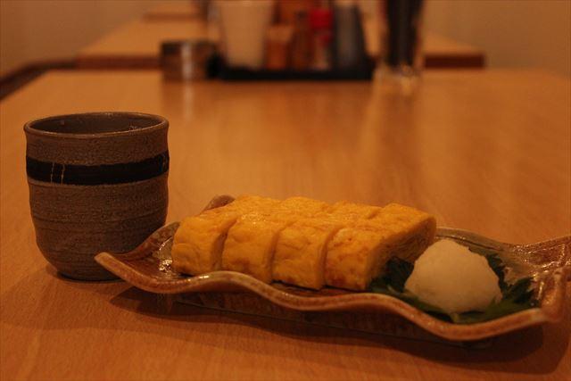 日本酒と玉子焼き